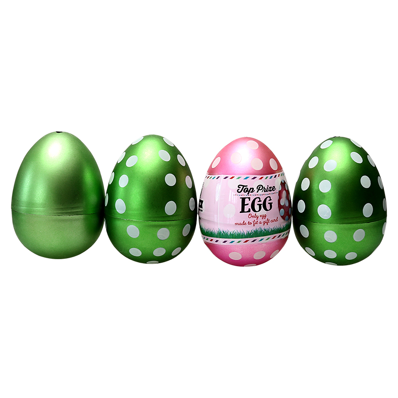 "4.4""Metallic Fillable Matt Printing Eggs"