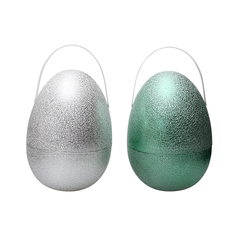 "10""Metallic Fillable Handle Wrinkled  Eggs"