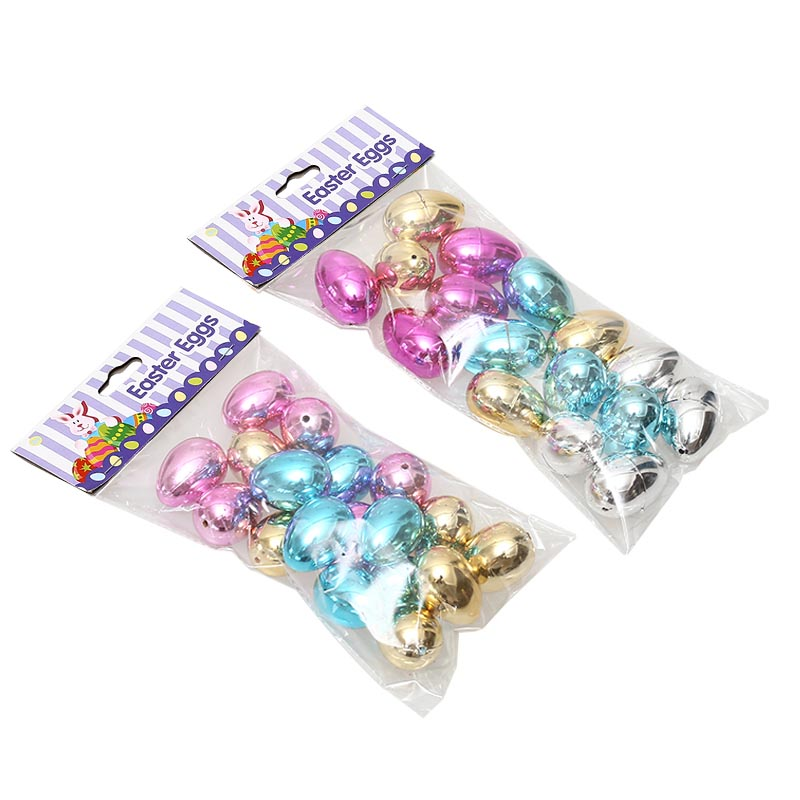 "1.8"" 16ct Metallic Fillable Glossy Eggs"