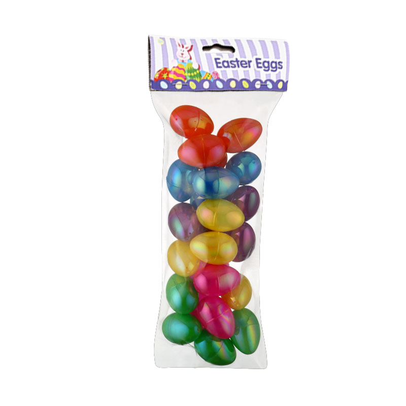 """1.8"""" 18ct IridescentFillable Colored-plating eggs"""