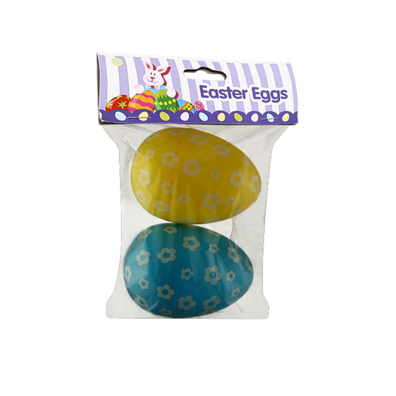 "6ct 3"" Flowers  Easter Eggs"