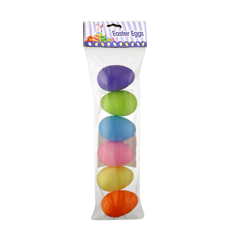"3.5""  6ct  Light colors Easter Eggs"