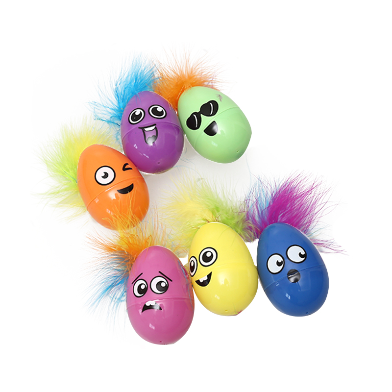 "5.5"" Easter Feather Eggs-1"