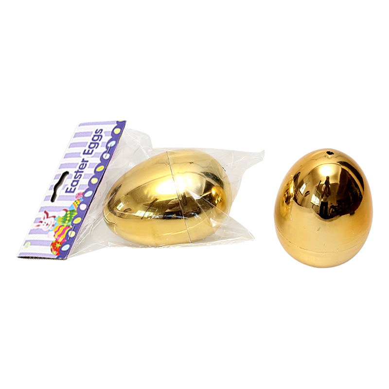 "4.4""Metallic Fillable Bright Gold Eggs"