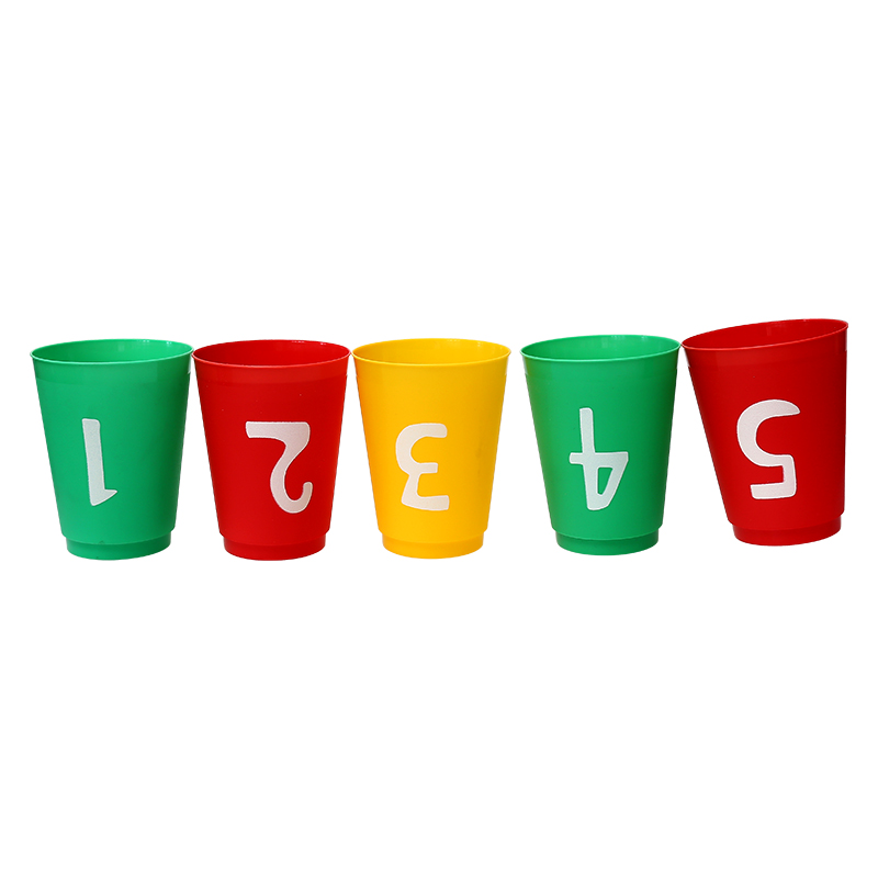 Plastic Numbers cup