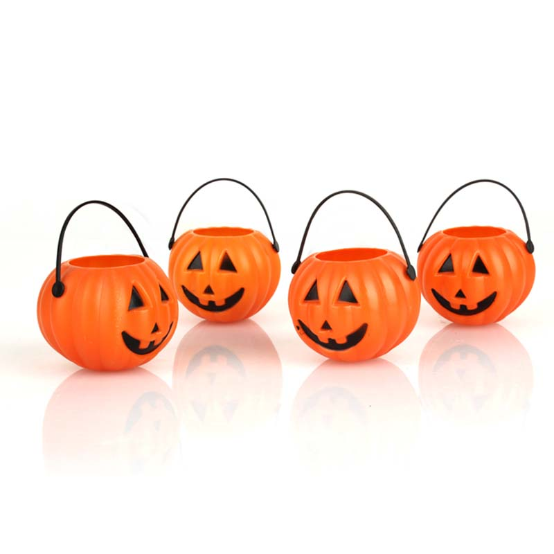 Decoration plastic pumpkin basket