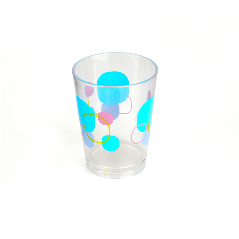 Frosted polka dot cup