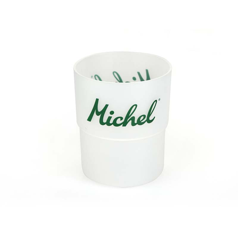 Frosted letter cups
