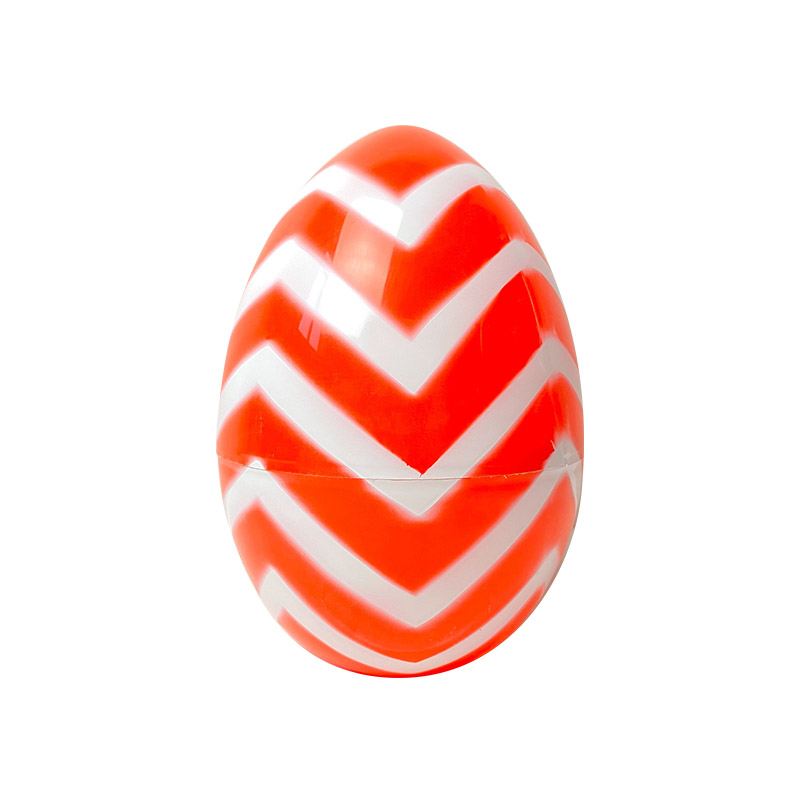 "10"" Striped spray painted large eggs"